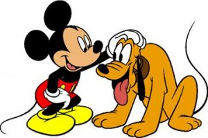 Mickey Mouse a Pluto